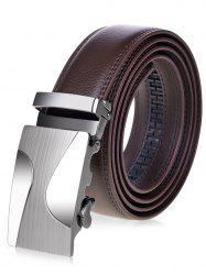 Metal Auto Buckle Leather Belt