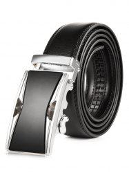 Hollow Out Metallic Auto Buckle Leather Belt