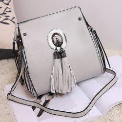 Multi Zips Tassel Crossbody Bag