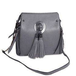 Multi Zips Tassel Crossbody Bag -