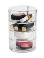 Cylindrique Bureau Cosmetic Stockage Maquillage Organisateur - Transparent