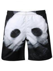 Panda Patchwork Casual Shorts
