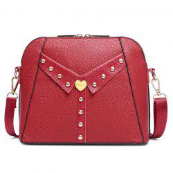 Collar Detail Rivet Crossbody Bag