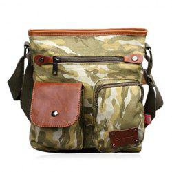 Canvas Pocket Detail Messenger Bag