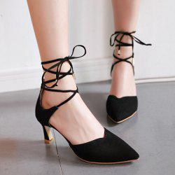 Pointed Toe Two Piece Pumps