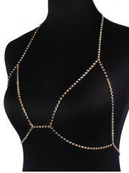 Rhinestone Bra Beach Body Jewelry - GOLDEN