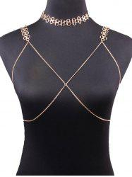 Vintage Geometric Bra Beach Body Jewelry and Necklace - GOLDEN