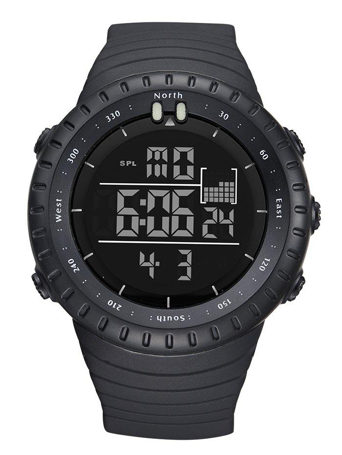 GIMTO Waterproof Sports Digital WatchJEWELRY<br><br>Color: BLACK; Gender: For Unisex; Style: Sport; Type: Sport Watch; Feature: Alarm,Chronograph,Others; Index Dial: Digital; Case material: Plastic; Band material: Silica Gel; Movement: Digital; Dial Shape: Round; Water-Proof: Yes; Case Thickness(MM): 16mm; Dial Diameter: 5cm; Band Length(CM): 26cm; Band Width(CM): 2.4cm; Package Contents: 1 x Watch;