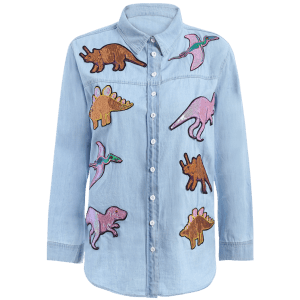 Dinosaur Denim Shirt -