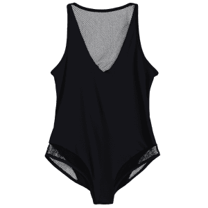 Sexy See-Through Hollow Back Women's Bodysuit -
