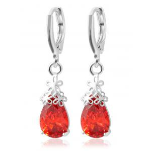 Water Drop Flower Drop Earrings
