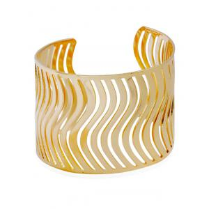 Wavy Hollow Out Cuff Bracelet