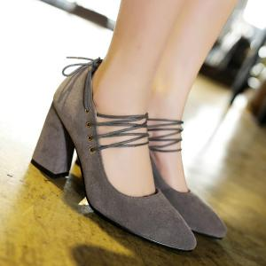 Tie Up Pointed Toe Pumps -