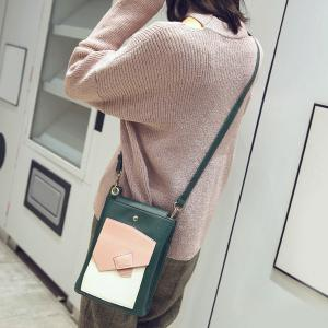 Colour Block Cross Body Bag -
