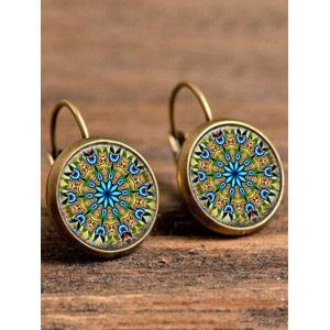 Artificial Gem Circle Bohemian Drop Earrings