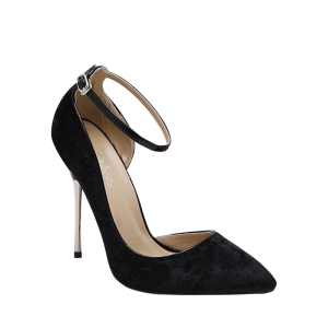 Pointed Toe Velvet Pumps