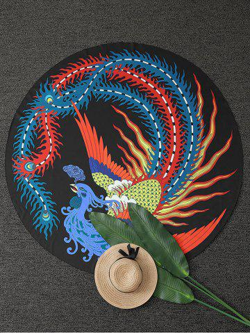 Outfit Chinese Ancient Phoenix Round Beach Throw - ONE SIZE COLORMIX Mobile