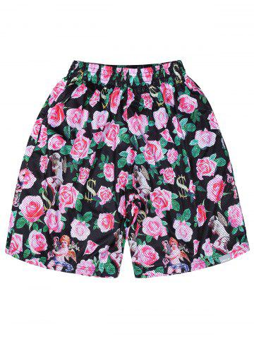 Shop Sports Mesh Hawaiian Floral Board Shorts - M COLORMIX Mobile