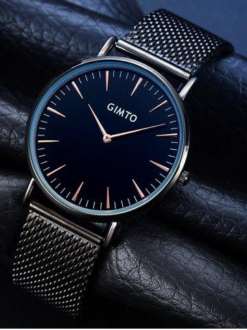 Chic GIMTO Stainless Steel Mesh Analog Watch - BLACK  Mobile
