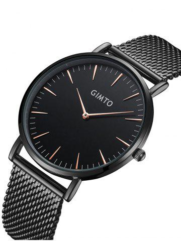 Shops GIMTO Stainless Steel Mesh Analog Watch - BLACK  Mobile