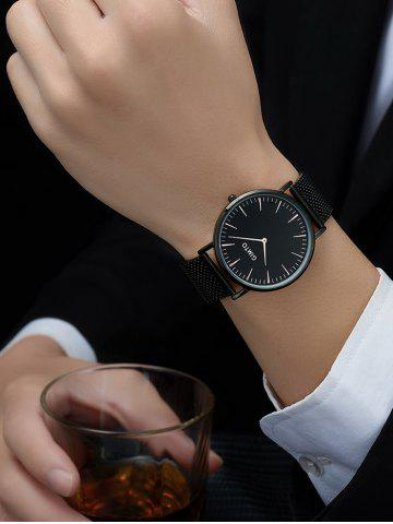 Outfit GIMTO Stainless Steel Mesh Analog Watch - BLACK  Mobile