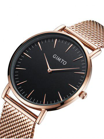Outfit GIMTO Stainless Steel Mesh Analog Watch - ROSE GOLD  Mobile
