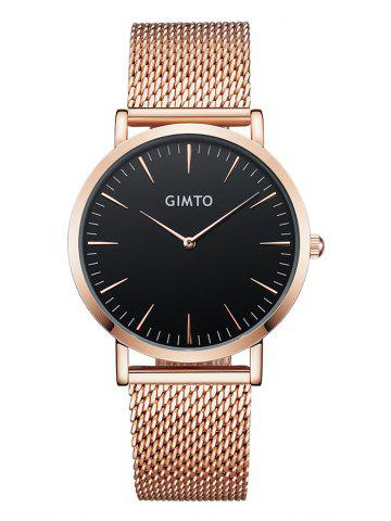 Shops GIMTO Stainless Steel Mesh Analog Watch
