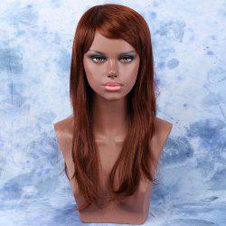 Stylish Palm Red Colormix Long Full Bang Straight Synthetic Hair Wig