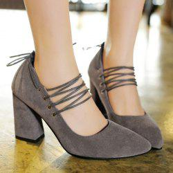 Tie Up Pointed Toe Pumps