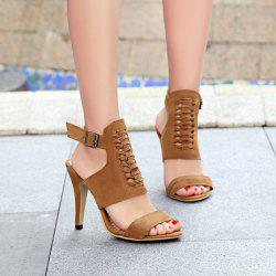 Criss Cross Buckle Straps Sandals