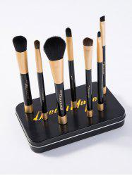 7 Pcs Makeup Brushes Set with Iron Box
