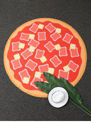 Hot Dog Pizza Round Beach Throw -