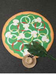 Mushroom Pizza Round Beach Throw