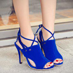 Stiletto Heel Peep Toe Sandals