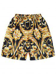 Breathable Abstract Print Mesh Shorts