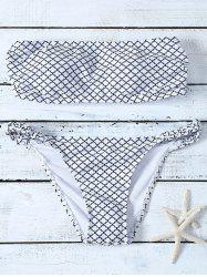 Wire Free Plaid Strapless Bikini Set