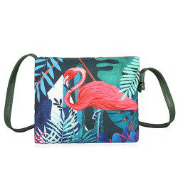 Canvas Tropical Painted Crossbody Bag