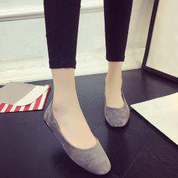Square Toe Slip On Flat Shoes