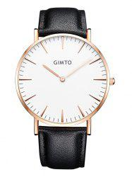 GIMTO Faux Leather Band Wrist Watch