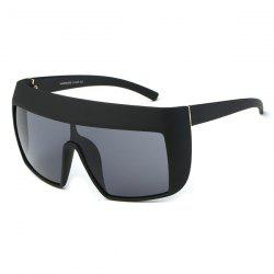 Oversize Reflective Windbreak Alpina Shield Sunglasses - BLACK GREY