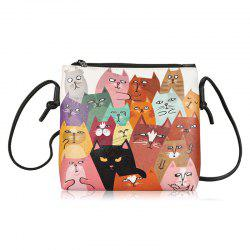 Animal Print Funny Crossbody Bag - COLORMIX