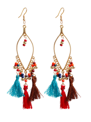 Vintage Tassel Beads Drop Earrings -
