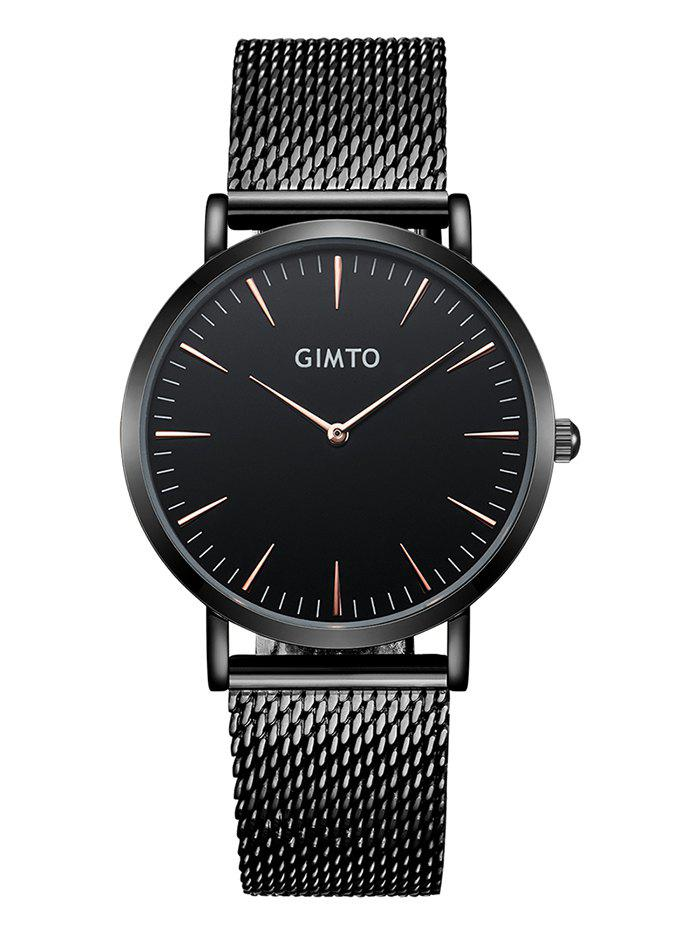 Fashion GIMTO Stainless Steel Mesh Analog Watch