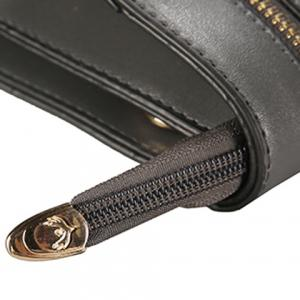 Zip Detail Cat Patch Clutch Bag - BLACK
