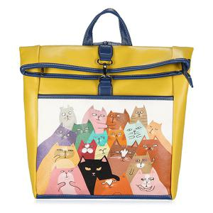 Drôle Cat Painted Backpack