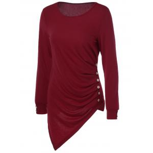 Asymmetrical Long Sleeve Tee