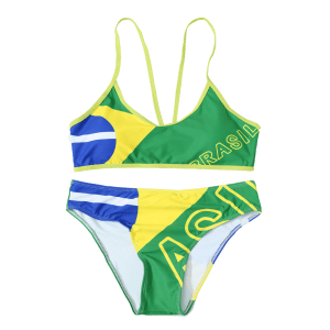 Brazilian Flag Sporty Patriotic Swimwear -