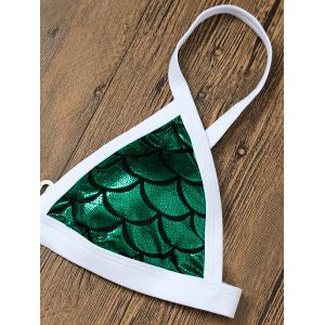 Fish Scale Little Mermaid Bikini Set - GREEN L