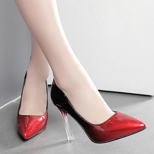 Ombre Pointed Toe Pumps - RED 37