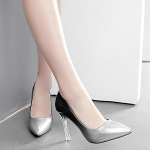 Ombre Pointed Toe Pumps - SILVER 39
